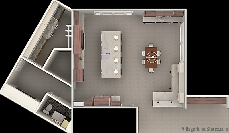 kitchen rendering floorplan