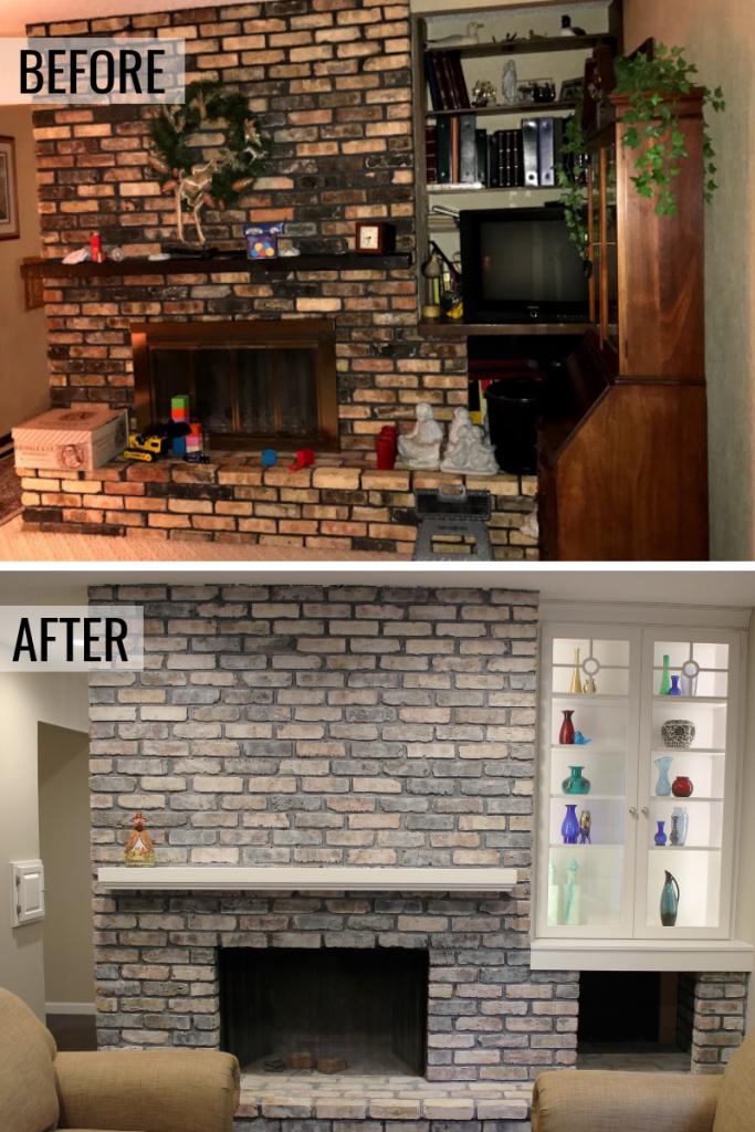 A fireplace before and after story in Bettendorf Iowa.