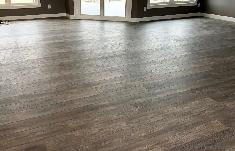 Milan, IL home with COREtec LVP in the warm gray Contempo Oak Dusk color.