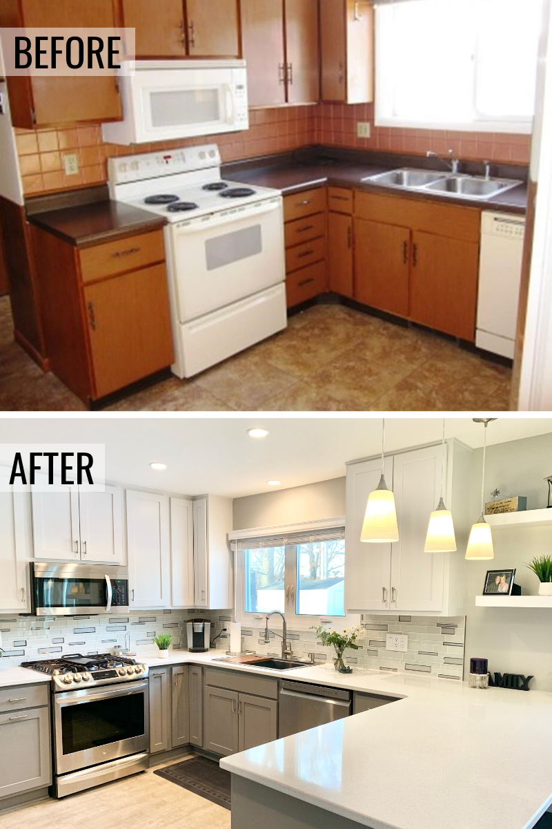 Moline IL kitchen remodel before and after story from Village Home Stores.