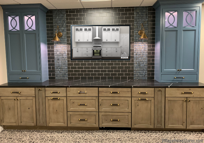 Sample Center Custom Amish Cabinet Display in Village Home Stores Showroom Geneseo, IL