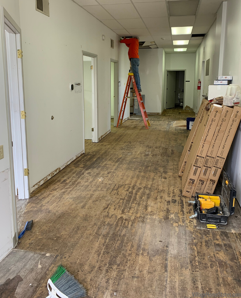 Business and office remodel in downtown Atknson, IL by Village Home Stores for IL Farm Business Farm Management.
