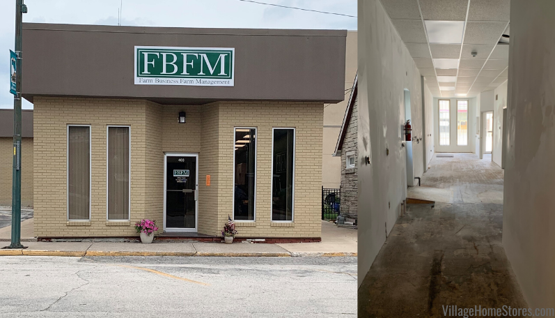 Complete start to finish remodel in commercial space by Village Home Stores for IL Farm Business Farm Management Atkinson, IL.
