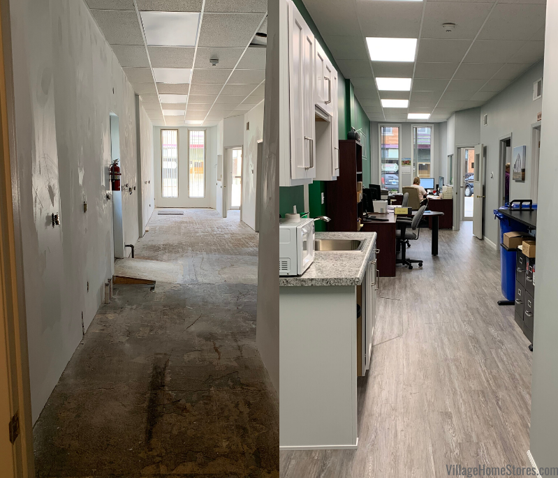 before and after side by side photo of Illinois Farm Business Farm Management remodel