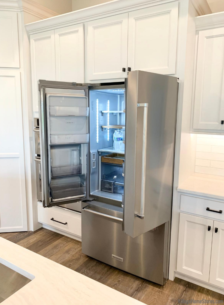 KitchenAid counter depth french door refrigerator. Appliances by Village Home Stores for Hazelwood Homes.