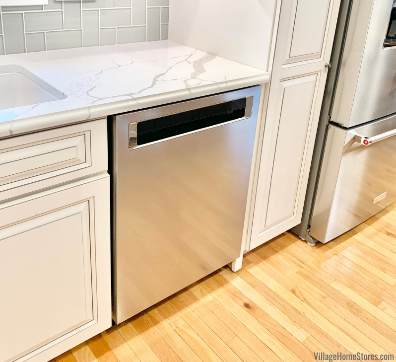 KitchenAid 604 dishwasher in a Geneseo Illinois home remodeled from start to finish by Village Home Stores.