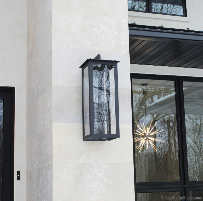 Modern outdoor lantern from Capitol Lighting Hunt series.