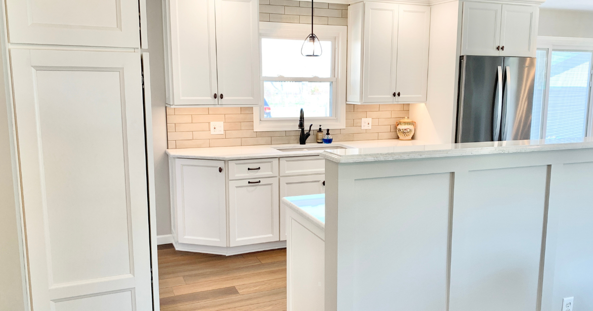 Ivory white koch cabinet kitchen in Geneseo Illinois